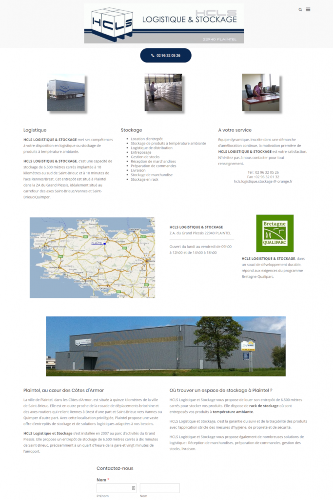 HCLS Logistique et Stockage, Plaintel