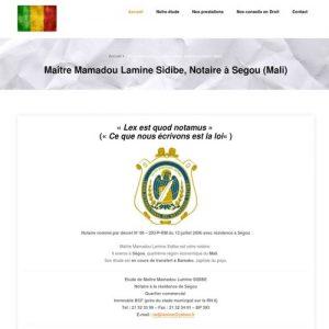 Maitre Sidibé, notaire Ségou (Mali)